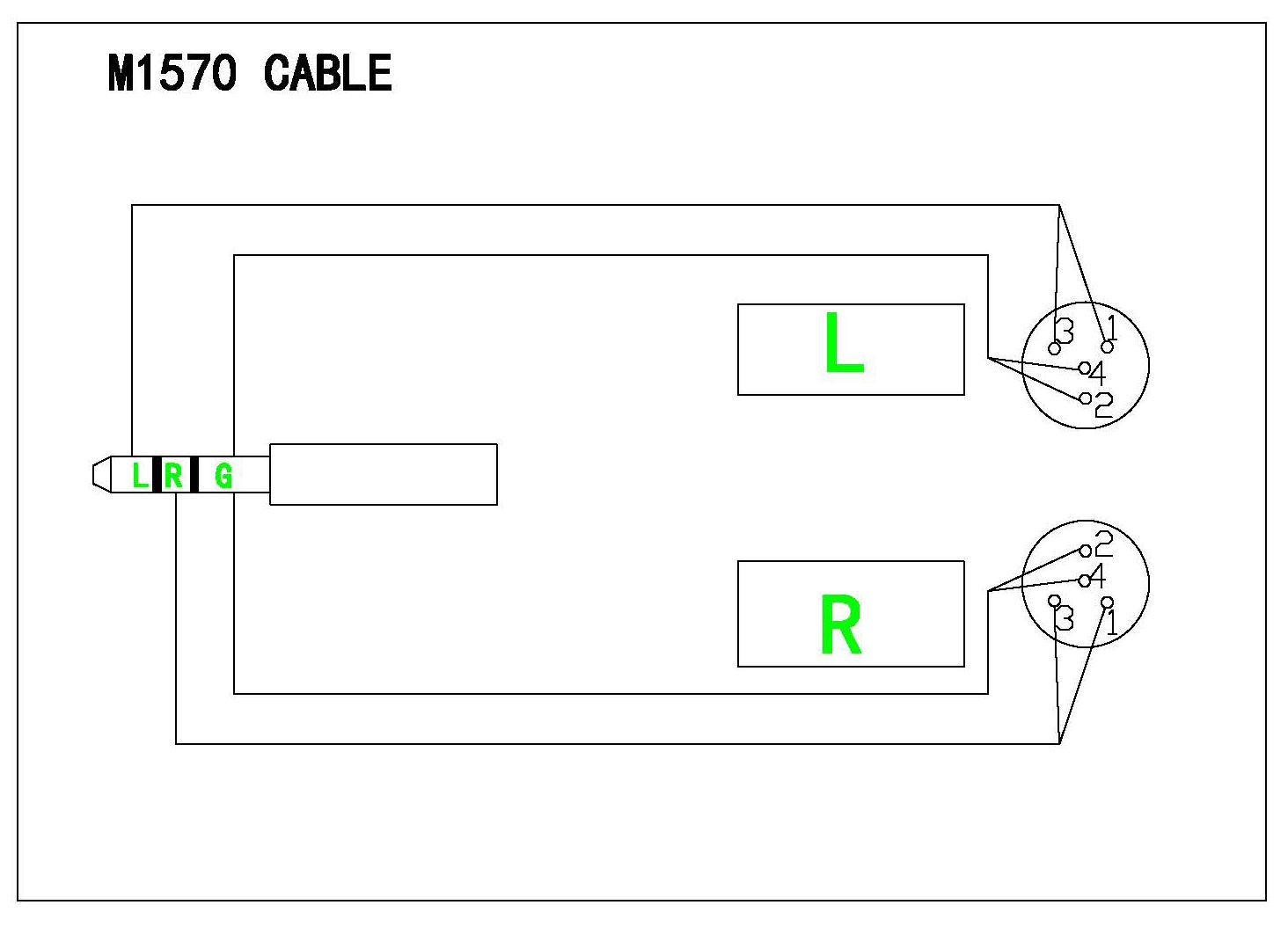 Monoprice M1570 Quarter Inch Pinout Wiring Diagram